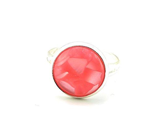 Opal Modeschmuck - Stechschmuck Ring Modeschmuck Silberfarben Opal Glanz