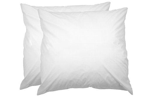 AmazonBasics Kissenbezug mit Reißverschluss, 100 % weiche Baumwolle, 80 x 80 cm, 2 Stück -