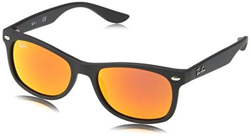 Ray-Ban Unisex Sonnenbrille Rj9052s 100s6q Gestell: Schwarz, Gläser: Rot Verspiegelt), Medium (Herstellergröße: 48)