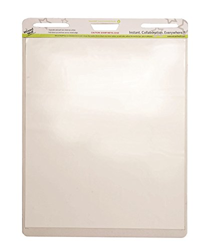 WIZARD WALL DRY ERASE  REUSABLE STATIC CLING EASEL PADS  2 X 15 SHEETS A PAD  24 X 29  WHITE (WZW-EP152PK)
