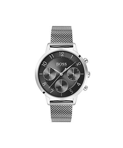 Hugo BOSS Damen Analog Quarz Uhr mit Edelstahl Armband 1502507 - Movado Damen Uhren