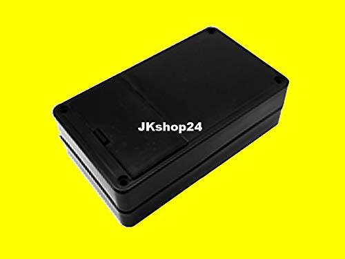 Kunststoff-Batteriegehäuse 123 x 72 x 39 mm für z.b. 6 V (4 x Mignon/Micro/AAA/AA) Plastic-Case Batterie-Kunststoffgehäuse mit Batterien-Klappe universal für Elektronik, LED, Platinen, Lautsprecher