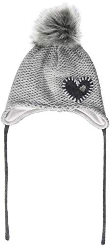 maximo Mädchen Mütze 84589-640600, Inka, Herz, Grau (Graumeliert 5), 53/55