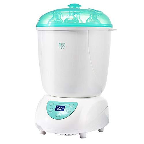 DLT Flasche Dampfsterilisator und Trockner, 3 in 1 HEPA-Filter-Babyflaschenwärmer-Muttermilch-Abtauung, Babynahrung mit Temperaturregelung, Weiß -