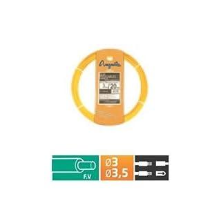 Anguilla–Cable Grommet Fiber autoenergetica 3.5mm 20m Yellow