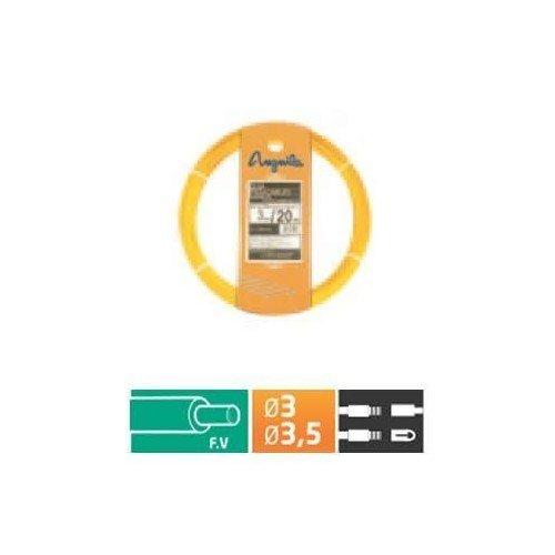 Anguila - Pasacables fibra autoenergetica 3,5mm 20m amarillo