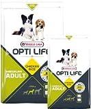 Opti Life Adult Medium 1kg–Trockenfutter Huhn und Reis für mittelgroße Hunde zwischen 10und 25kg