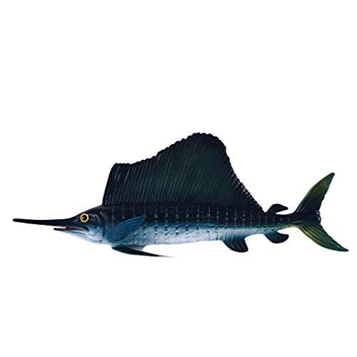 LIGHTBLUE Meeresorganismen Figuren Spielzeug Simulation Figur Lebensechte Wissenschaft Natur Pädagogisches Spielzeug, Schwertfisch, 21 * 3 * 7cm