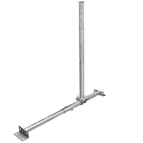 PremiumX Dachsparrenmasthalter 100 cm Ø 48 mm Mast Stahl feuerverzinkt SAT Dach Sparren Halter verstellbar 40 – 70 cm Aufsparrenhalter Dachsparrenhalter Sparrenhalter - 4