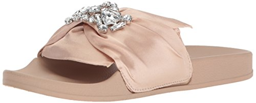 Kenneth Cole REACTION Damen Slide with Faux Detail Pool Jewel Sandalen mit falschen Juwelendetails, Blush, 39 EU Blush Satin Schuhe