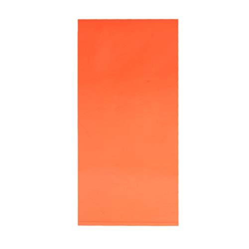 LLAni Plexiglas-Board, Acryl-Blatt, 10 x 20 cm, zum Selbermachen von Spielzeug, Zubehör, Modellbau Orange (Acryl-plexiglas Blatt Farbe)