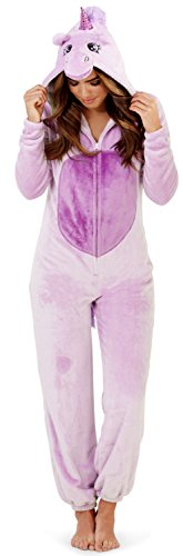 - 31X 2BHE4RC9L - Womens Hooded Animal Ears Tail Onesies Jumpsuits Pyjamas Ladies Pjs Pj's Girls Xmas Gifts Presents Size UK 6 – 16