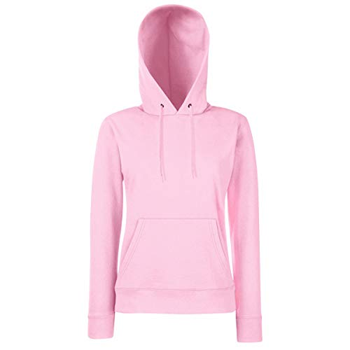 Fruit of the Loom - Lady-Fit Hooded Sweat S,Light Pink (0-chor)