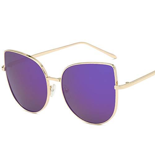 Wenkang Katzenauge Sonnenbrille Übergröße Frauen Metall Designer Mode Brillen Weiblich Damen Sonnenbrille Sonnenbrille Für Frauen,C5