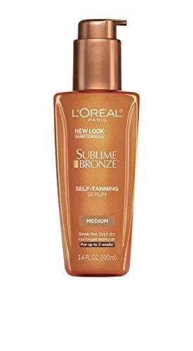 L'Oreal Paris Skin Care Sublime Bronze Self-Tanning Serum, Medium Natural Tan (Selbstbräuner Serum) USA
