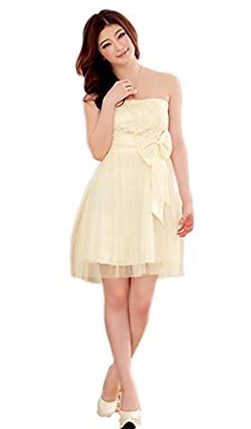 Hot Verkauf Cocktail Ball Kleid Abendkleid Hochzeit Kleid Sweet Gericht Schmetterling Knoten BH Gaze Kleid Gr. 36 /12, (Schmetterling Dish)