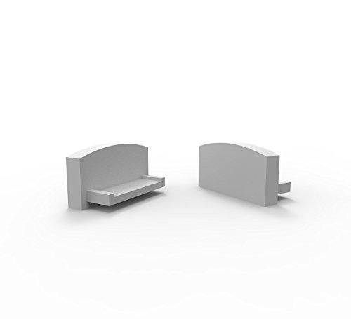 LED Profile Endkappen, Endkapps 2 Stück für LED Profil LT4