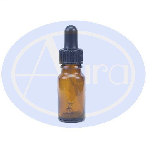 5er-PACKUNG - 10ml BRAUNGLAS-Flaschen mit GLAS-Pipetten. Ätherisches Öl / Verwendung in Aromatherapie