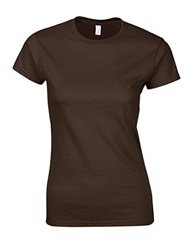 Gildan Softstyle® Ladies´ T- Shirt, Größe:S, Farbe:Dark Chocolate (T-shirt 64000l)