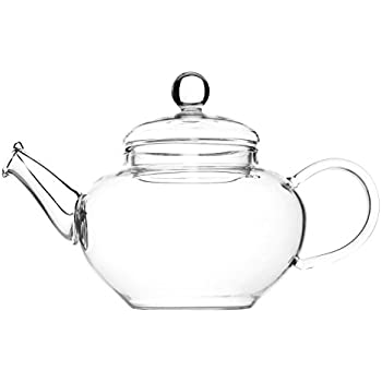 Glass Teapot & Wire Coil Filter - Devonshire - 600ml (For 2 Cups) - Chiswick Tea Co …