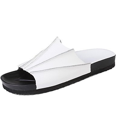 Leather Slippers & Primavera Estate Comfort Outdoor casual Athletic Tallone piano Uomo increspature di Pentecoste sandali US7.5 / EU39 / UK6.5 / CN40