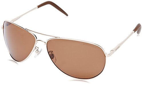 ALPINA Erwachsene Fahrradbrille A 120 light, gold Pol Brown, One Size, 8491525_AV