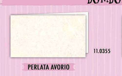 100 pz bigliettini bigliettino bomboniera matrimonio perlato avorio