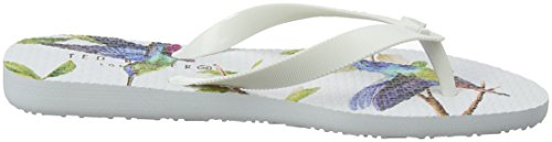 Ted Baker Beaulup, Tongs Femme Blanc (Highgrove Hummingbird #ffffff)