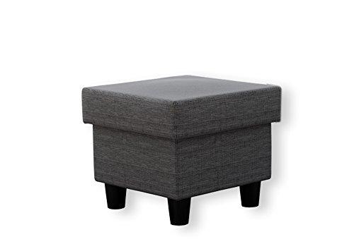Ohrensessel mit Hocker grau im Landhausstil   Der perfekte Sessel für entspannte, lange Fernseh- und Leseabende. Abschalten und genießen!