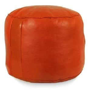 sitzsack hocker orange rosette marokko handgefertigt aus echtem leder k che. Black Bedroom Furniture Sets. Home Design Ideas