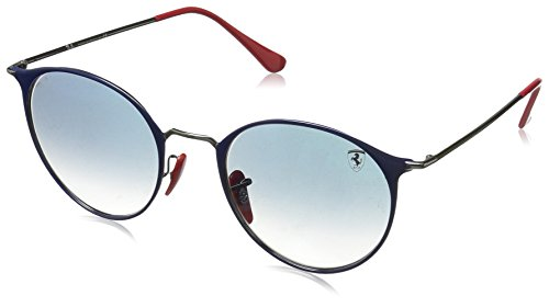 Ray-Ban Junior Unisex-Erwachsene 0RB3602M F0243F 51 Sonnenbrille, Gunmetal On Top Blue/Cleargradientblue