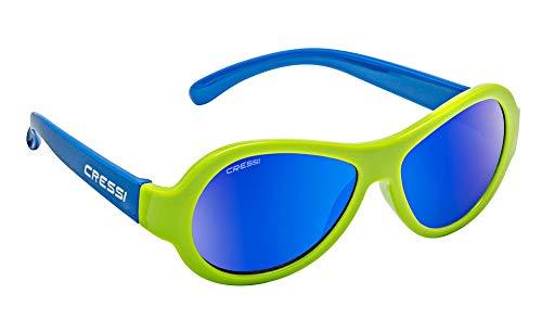 Cressi Unisex- Babys Scooby Sunglasses Polarisiert Kinder Sonnenbrille, Grün Spiegel Linse Blau, 0-2 Jahre