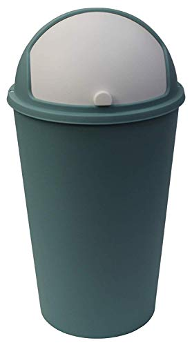 Koopp 25 Liter Kräftige Farben Schwenkverschluss Deckel Abfalleimer für die Küche Heim Badezimmer Büro - Grün