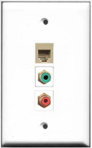 RiteAV-1Port RCA rot und 1Port RCA RJ11, RJ12und 1Port, grün, beige) -