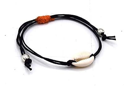 ETHNICFEATHER - Bracelet AJUSTABLE Coquillage Cauri - Cadeau pour elle - Cadeau adolescent-