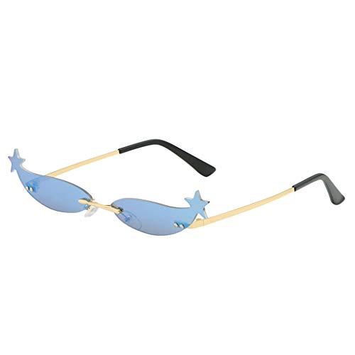 Brillen Sonnenbrillen Retro Unisex Sommer Sonnenbrillen Vintage Sonnenbrillen Retro Kleine ovale Sonnenbrillen Metallrahmen Sonnenbrillen Rapper Schutz Sonnenbrillen (Z-E)