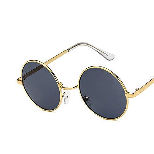 YUHANGH Vintage Runde Sonnenbrille Frauen Ozean Farbe Objektiv Spiegel Sonnenbrille Weiblichen Metallrahmen Kreis Gläser