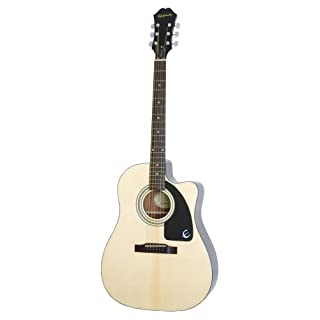 Epiphone AJ-100CE Cutaway Acoustic / Electric Guitar, Mahogany Body, Select Spruce Top, Rosewood Fingerboard, Mahogany Neck, 25.5 scale