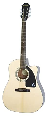 Epiphone AJ-100CE Cutaway Acoustic / Electric Guitar, Mahogany Body, Select