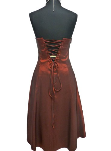 JuJu & Chris tine corto donna in raso stanotte vestimento (2030 A) vers. Colori taglia 34 - 54 Gold