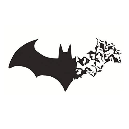 Vektenxi Premium-Qualität Halloween Wandaufkleber Silhouette der Fledermaus Home Fenster Festival Dekor Aufkleber Geschenk schwarz (Halloween Fenster Silhouetten Muster)