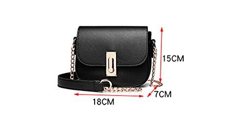 Sacchetto di estate, sacchetto di spalla delle signore coreane, zaino obliquo, borse, mini pacchetto della catena selvaggia ( Colore : Nero ) Marrone