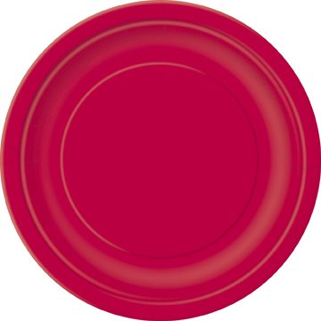 Ruby Rot Uni Tasse Serviette Teller Tisch, Weihnachten Valentine Party Zubehör Pack of 16 Ruby Red Plain Plates