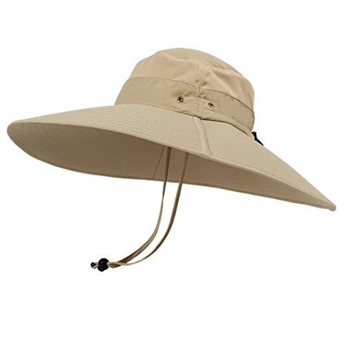 Eimer Hut Lange breite Krempe atmungsaktiv schnell trocknend Männer Frauen Hut Sommer UV-Schutz Kappe Wandern Angeln Sonnenhut