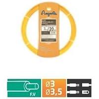 Anguila - Pasacables fibra autoenergetica 3,5mm 30m amarillo