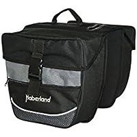 01170427SS Fahrrad Gepäckträgertasche Seitentasche Tasche schwarz Sterne 16 mm