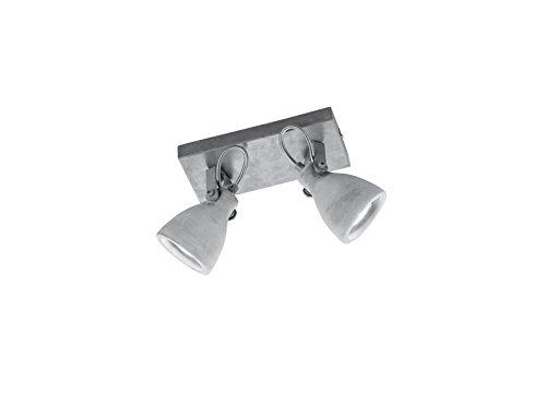 Trio Concrete-Foco GU10 42 W, Metal hormigón,Gris, IP20, 2 bombillas