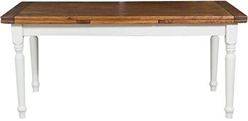 Tavolo-allungabile-Country-in-legno-massello-di-tiglio-struttura-bianca-anticata-piano-noce-180x90x80-cm