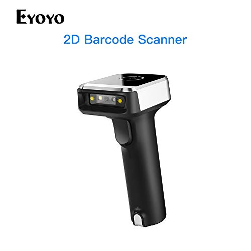 Eyoyo Barcode Scanner Wireless 1D 2D QR 3-in-1 BT 2.4G USB Handheld Lesegerät Für PDF417 Data Matrix UPC Kompatibles Laptops/PC/Android/iPhone iOS Msi-usb-dongle