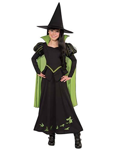 Generique - Hexe des Westens-Der Zauberer von Oz Kinderkostüm schwarz-grün 116 (5-6 ()
